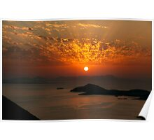 The sky is on fire! Poster