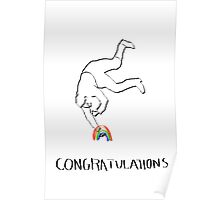 Congratulations for finding the Rainbow Poster