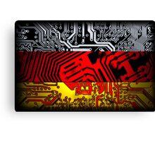 circuit board germany (Flag) Canvas Print
