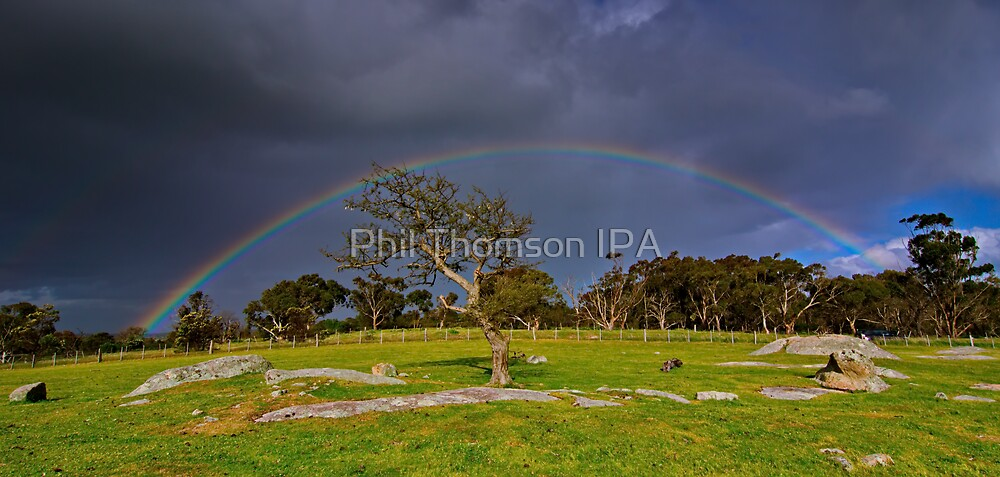 """""""Rainbow At The Rocks"""" by Phil Thomson IPA"""
