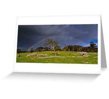 """Rainbow At The Rocks"" Greeting Card"