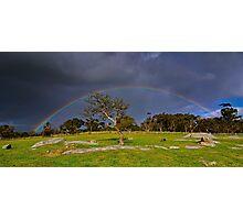 """Rainbow At The Rocks"" Photographic Print"