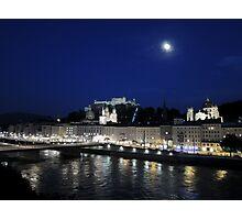 Salzburg Nightscape Photographic Print