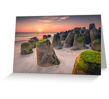 Tetrapods at sunset (Hörnum/Sylt) Greeting Card