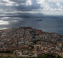 A Bird's-eye View of Naples, Italy by Georgia Mizuleva