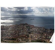 A Bird's-eye View of Naples, Italy Poster