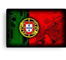 circuit board Portugal (Flag) Canvas Print