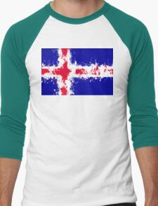 in to the sky, iceland Men's Baseball ¾ T-Shirt