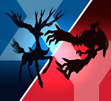 Xerneas and Yveltal by tjhiphop