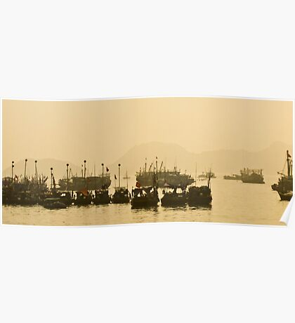 Cat Ba Harbour, Vietnam Poster