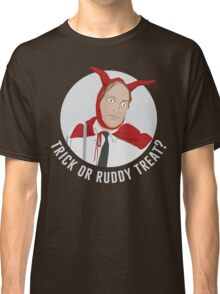Trick or Ruddy Treat? (text) Classic T-Shirt