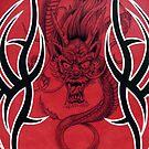Tribal Dragon Red by Tim Miklos