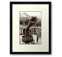 Cannon fort, Cat Ba, Vietnam Framed Print
