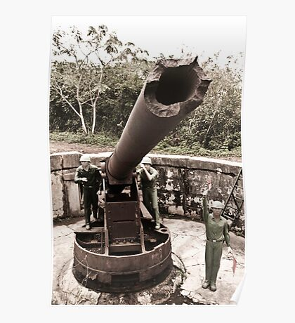 Cannon fort, Cat Ba, Vietnam Poster