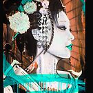 Geisha Phone Case (Aqua & Orange) by Tim Miklos