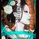 Geisha Phone Case (Aqua & Orange) by Tim Miklos