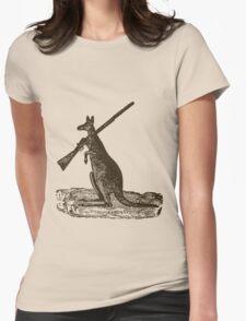 Kangaroo Shotgun Womens Fitted T-Shirt