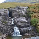 Waterfall in Glencoe by mike  jordan.