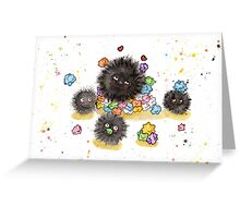 Dust Bunnies Greeting Card