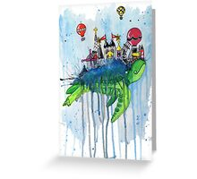 Turtle City in the Sky Greeting Card