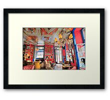 urban bar interior Framed Print