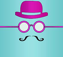 Pink Glasses + Hat + Mustache #2 by voGue