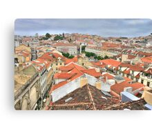 Lisbon from the roof Canvas Print
