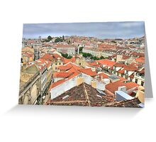 Lisbon from the roof Greeting Card