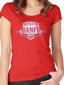Banff Alberta Ski Resort Women's Fitted Scoop T-Shirt