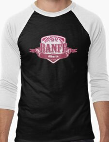 Banff Alberta Ski Resort Men's Baseball ¾ T-Shirt
