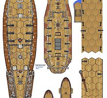 18thC Ships and Jetty Plans    Wargames? by Radwulf