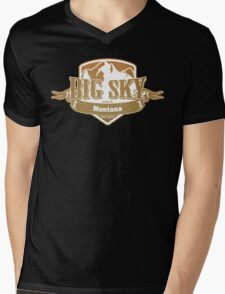 Big Sky Montana Ski Resort Mens V-Neck T-Shirt