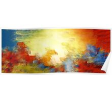 Splash of Colors Oil Painting Poster