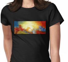 Splash of Colors Oil Painting Womens Fitted T-Shirt