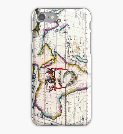 Vintage Antique Map of Africa Circa 1687 iPhone Case/Skin