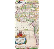 Vintage Antique Map of Africa Circa 1652 iPhone Case/Skin