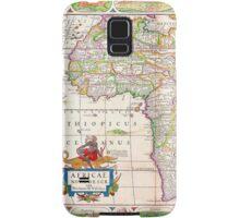 Vintage Antique Map of Africa Circa 1652 Samsung Galaxy Case/Skin