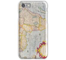 Vintage Antique Map of Africa Circa 1610 iPhone Case/Skin
