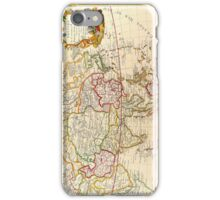 Vintage Antique French Map Europe to Asia Circa 1732 iPhone Case/Skin