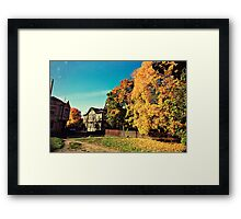 Autumn is Golden Framed Print