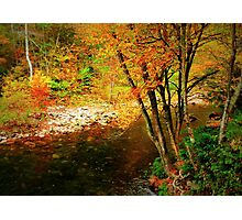 My First Fall on the Blue Ridge Mountains Photographic Print