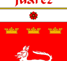 Juarez Coat of Arms/Family Crest Sticker