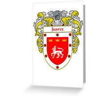Juarez Coat of Arms/Family Crest Greeting Card