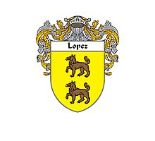 Lopez Coat of Arms/Family Crest Photographic Print