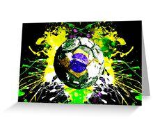 football Brazil Greeting Card