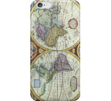 New and Accurate Map of the World Circa 1626 iPhone Case/Skin
