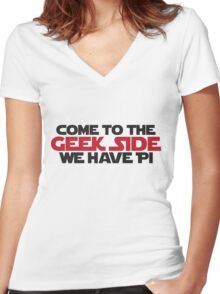 Geek Side Women's Fitted V-Neck T-Shirt
