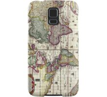Antique Vintage Map of the Americas Samsung Galaxy Case/Skin