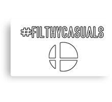 #Filthycasuals (Smash Bros) Canvas Print