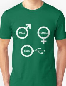 Male, Female, Geek T-Shirt